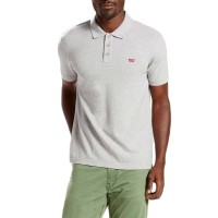 LEVIS HOUSEMARK POLO MEDIUM GREY HEATHER