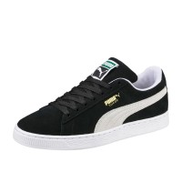 PUMA SUEDE CLASSIC+ SHOES BLACK-WHITE