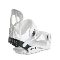 DRAKE FIFTY W18 SNOWBOARD BINDING WHITE