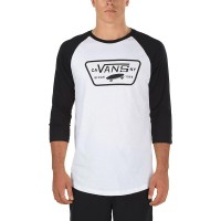 VANS FULL PATCH RAGLAN WHITE-BLACK