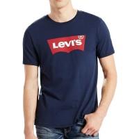 LEVIS HM GRAPHIC SET IN NECK TEE DRESS BLUES