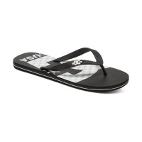 DC SPRAY GRAFFIK MENS SANDAL BLACK/WHITE/BLACK PRINT