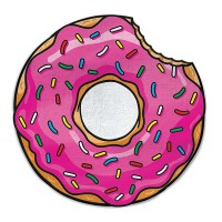 BIG MOUTH GIANT SIZED BEACH TOWEL PINK DONUT