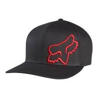FOX FLEX 45 FLEXFIT HAT BLACK/RED