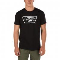 VANS FULL PATCH TEE BLACK/WHITE