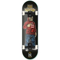 NOMAD SKULL COMPLETE SKATEBOARD RED MC 7.875