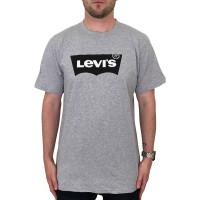 LEVIS LOGO 2 TEE MIDTONE HEATHER GREY