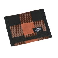 DICKIES CRESCENT BAY WALLET BROWN DUCK CHECK