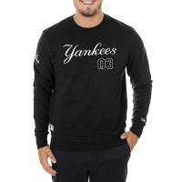 NEW ERA TEAM APPAREL SCRIPT CREW NY YANKEES BLACK