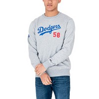 NEW ERA TEAM APPAREL SCRIPT CREW LA DODGERS GREY