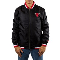 NEW ERA NBA TEAM VARSITY JACKET CHICAGO BULLS BLACK