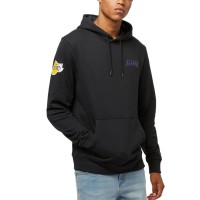 NEW ERA NBA TEAM HOODIE LOS ANGELES LAKERS BLACK