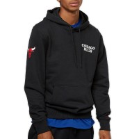 NEW ERA NBA TEAM HOODIE CHICAGO BULLS BLACK