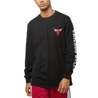 NEW ERA NBA TEAM LS TEE CHICAGO BULLS BLACK