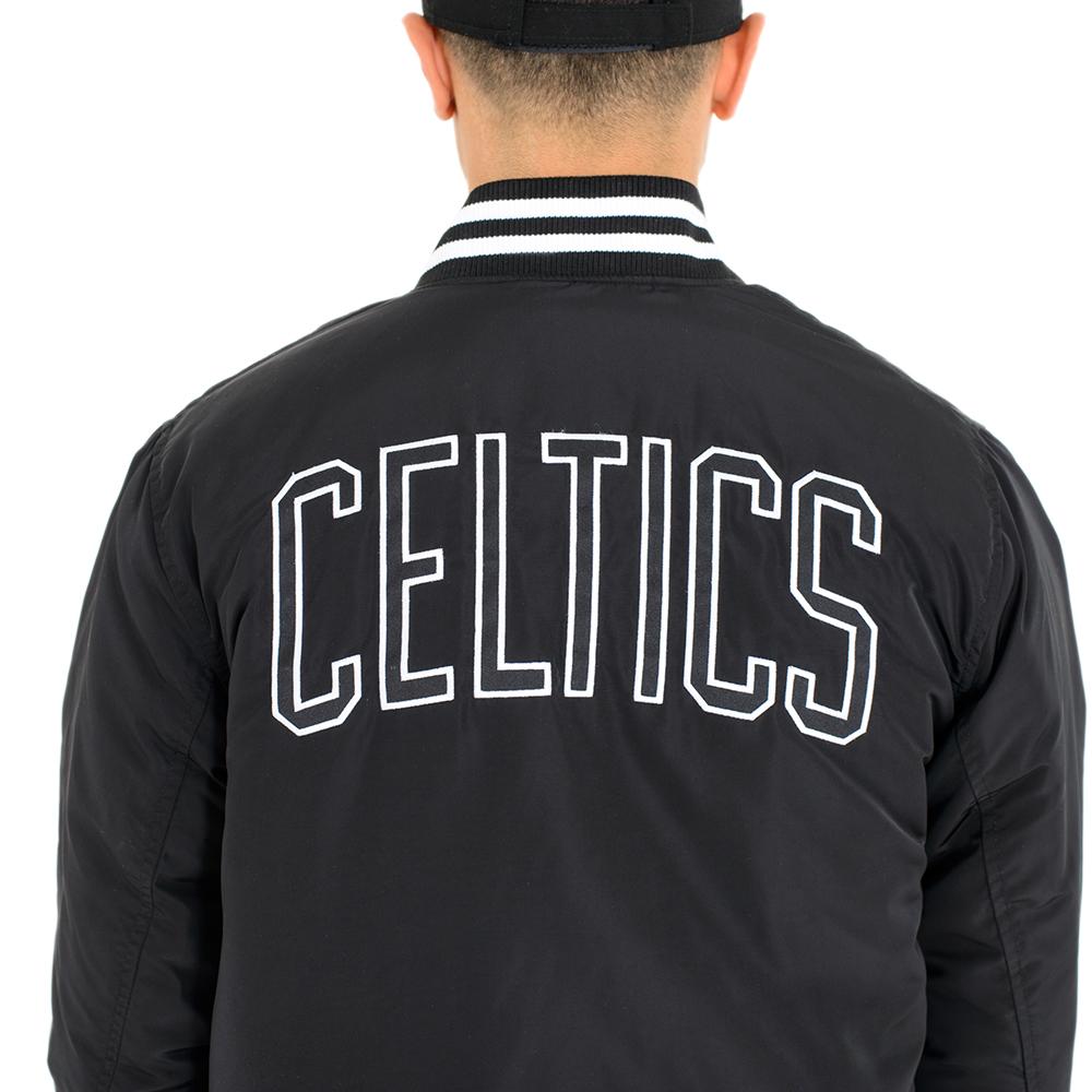 f5744ad23010 NEW ERA NBA MONOCHROMATIC JACKET BOSTON CELTICS BLACK