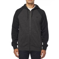 FOX LEGACY ZIP HOODY BLACK/CHARCOAL