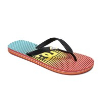 DC SPRAY GRAFFIK MENS SANDAL STRIPE CITRUS/OLMPIAN BLUE