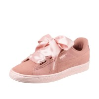 PUMA BASKET HEART PEBBLE W SHOES PEACH BEIGE-PEARL