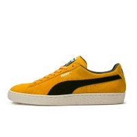PUMA SUEDE CLASSIC ARCHIVE SHOES MINERAL YELLOW-PUMA BLK