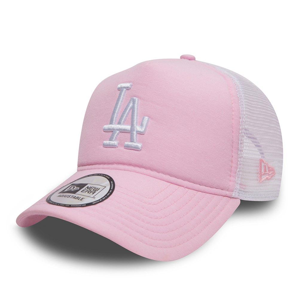 90ca31bca2b5dc NEW ERA MLB OXFORD TRUCKER CAP LA DODGERS PINK/OPTIC WHITE