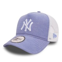 NEW ERA MLB OXFORD TRUCKER CAP NY YANKEES SKY BLUE/OPTIC WHT