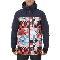 QUIKSILVER MISSION BLOCK SNOW JACKET FLAME SCARL_MONEY
