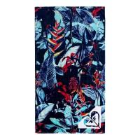 ROXY HAZY BEACH TOWEL DRESS BLUE FANTASTIC GARDEN