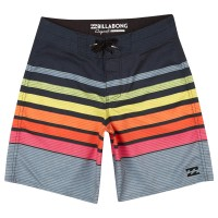BILLABONG ALL DAY OG STRIPES BOYS BOARDSHORT NEON