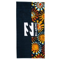 BILLABONG WAVES BEACH TOWEL NAVY/ORANGE