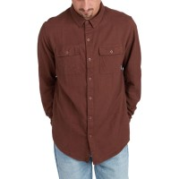 BILLABONG ALL DAY FLANNEL LS SHIRT RUST BROWN