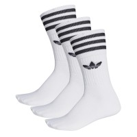 ADIDAS SOLID CREW 3PACK SOCKS WHITE/BLACK
