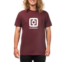 HORSEFEATHERS FAIR T-SHIRT BURGUNDY