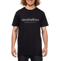 HORSEFEATHERS QUARTER T-SHIRT BLACK