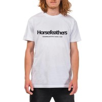 HORSEFEATHERS QUARTER T-SHIRT WHITE