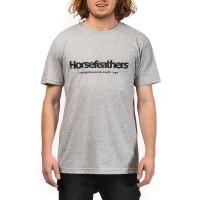 HORSEFEATHERS QUARTER T-SHIRT ASH