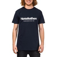 HORSEFEATHERS QUARTER T-SHIRT NAVY
