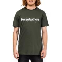 HORSEFEATHERS QUARTER T-SHIRT OLIVE