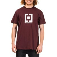 HORSEFEATHERS BASE T-SHIRT BURGUNDY
