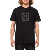 HORSEFEATHERS BASE T-SHIRT BLACK REFLECTIVE