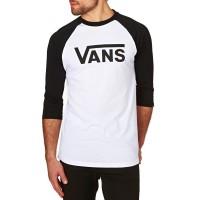 VANS CLASSIC RAGLAN TEE WHITE/BLACK
