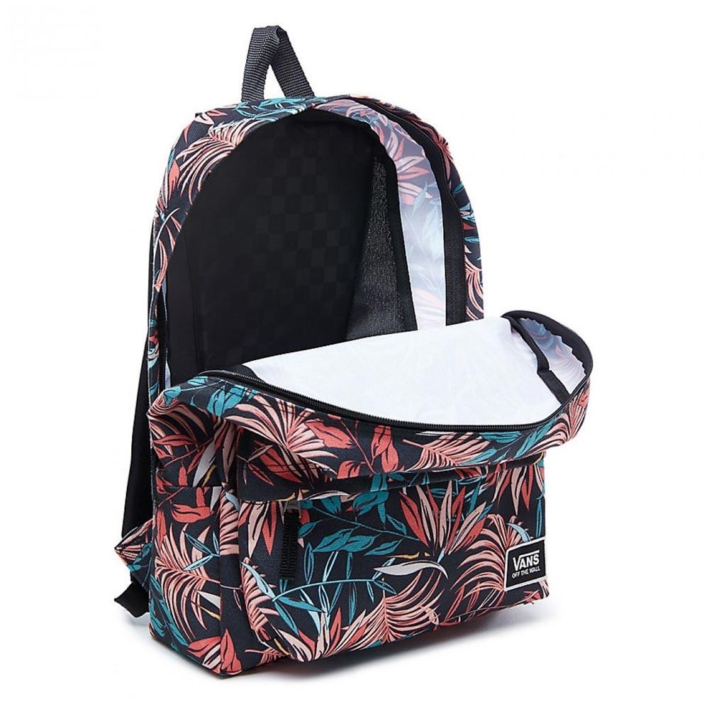 Black California Floral Vans Backpack