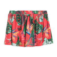 FEMI STORIES RAIN MINI SKIRT TROPICAL RED