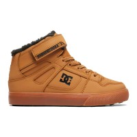 DC PURE HIGH-TOP KIDS WINTER SHOES WHEAT