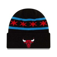 NEW ERA TEAM KNIT BEANIE CHICAGO BULLS BLACK
