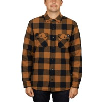 DICKIES LANSDALE L/S SHIRT BROWN DUCK