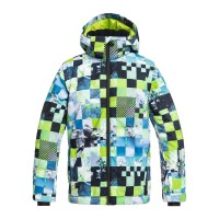 QUIKSILVER MISSION KIDS SNOW JACKET LIME GREEN MONEY TIME