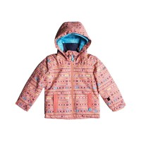 ROXY MINI JETTY SNOW JACKET GIRLS SHELL PINK_INDIE STRIPES