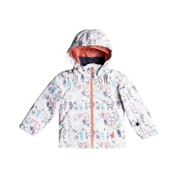 ROXY MINI JETTY SNOW JACKET GIRLS BRIGHT WHITE_ANIMALS PARTY