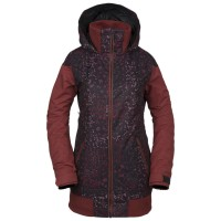VOLCOM MEADOW INS SNOW JACKET BLACK FLORAL PRINT