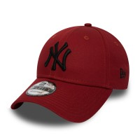 NEW ERA 9FORTY LEAGUE ESSENTIAL CAP NY YANKEES HOT RED/BLACK
